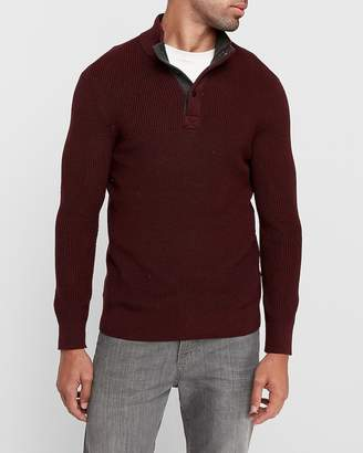 Express Snap Mock Neck Cotton Sweater