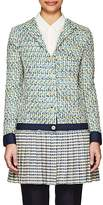 Thom Browne WOMEN'S PLEATED-BOTTOM COTTON-BLEND TWEED COAT