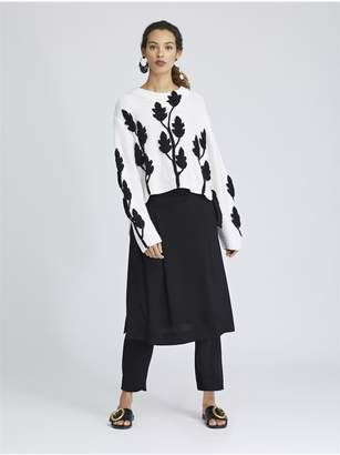 Oscar de la Renta Fluid Cady Wrap Skirt Pants