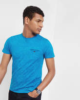 Ted Baker Floral Cotton T-shirt Teal