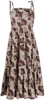 Ulla Johnson sleeveless tiered midi dress