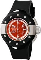 Invicta Men's 6844 S1 Collection GMT Orange Enamel Dial Black Polyurethane Watch