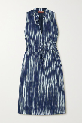 Altuzarra Striped Cotton-blend Poplin Dress - Blue