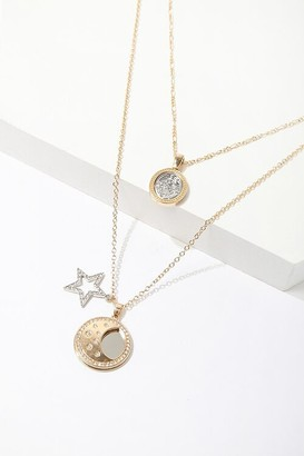Forever 21 Layered Pendant Chain Necklace