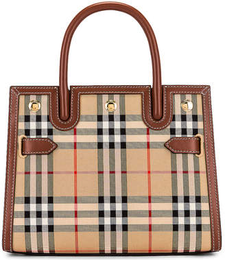 Burberry Small Double Handle Tote in Archive Beige | FWRD