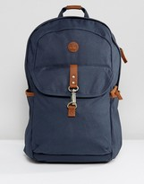 Timberland Walnut Hill 20l Backpack Leather Trim In Navy