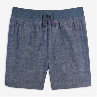 Joe Fresh Baby Boys' Chambray Rib Waist Shorts, Light Wash (Size 3-6)