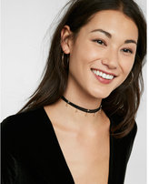 Express star charm double layer choker necklace