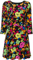 Moschino floral print flared dress - women - Polyester/Viscose - 42