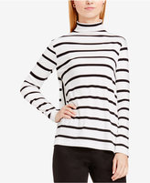 Vince Camuto TWO by Striped Mock-Neck Top