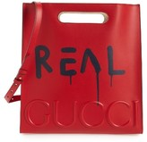 Gucci Men's Guccighost Leather Tote - Red