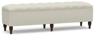 Pottery Barn Lorraine Tufted Upholstered King Storage Bench