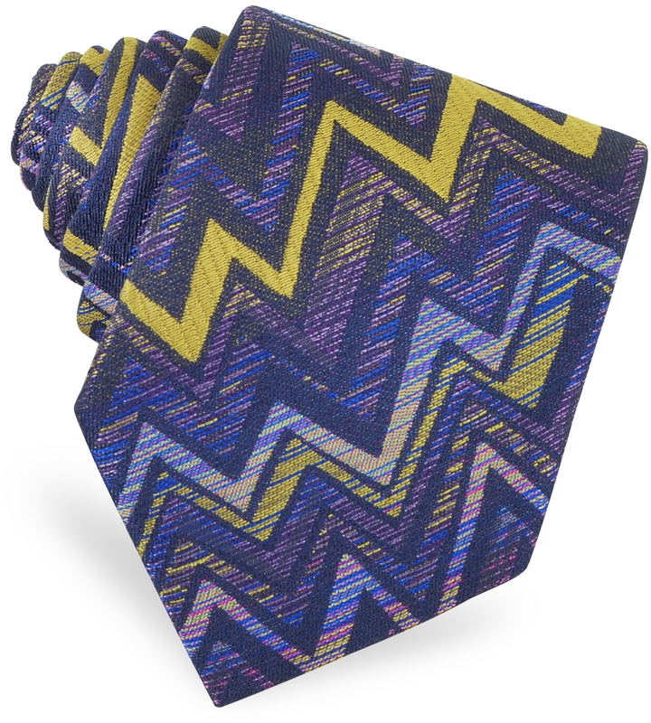 Missoni Skinny Woven Silk Tie