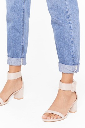 Nasty Gal Womens Hi There Faux Suede Low Block Heels - Nude