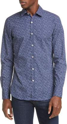 Canali Classic Fit Floral Button-Up Shirt