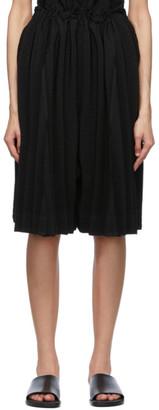 Issey Miyake Black Pleats Panorama Shorts