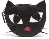 Lulu Guinness Women's Kooky Cat Foldaway Shopper Bag Black White