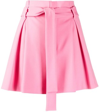 RED Valentino Pleat-Detailing Paperbag Shorts
