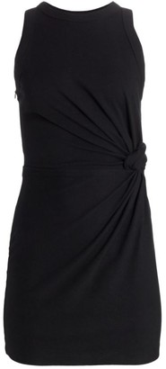 Alexander Wang Heavy Jersey Twist Detail T-Shirt Dress