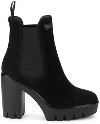 Giuseppe Zanotti Tonix Lug-Sole Suede Platform Boots