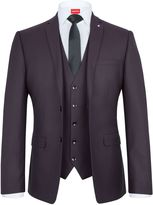 Lambretta Men's Jacquard Slim-Fit Three Piece Suit