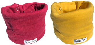 Bazzle Baby Fleece Lined Scarf Bib - Pack of 2