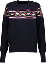 Isabel Marant Blake intarsia-knit wool-blend sweater