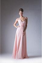 Unique Vintage Pink Long Empire Waist Special Occasion Dress