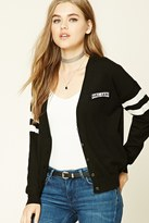 Forever 21 FOREVER 21+ Girl Gang Patched Cardigan