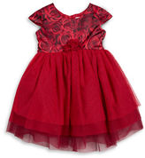 Us Angels Girls 2-6x Rose Print Tulle Dress