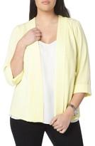 Evans Plus Size Women's Crepe Panel Jacket