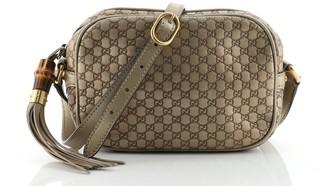 Gucci Sunshine Disco Crossbody Bag Microguccissima Leather Small