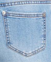Monroe Marilyn Juniors Jeans, Skinny Destroyed Cropped Light Wash