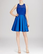 Karen Millen Bold Colorful Lace Panel Dress - Bloomingdale's Exclusive