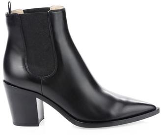 Gianvito Rossi Romney Point-Toe Leather Chelsea Boots