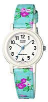 Casio Kids' Full Figure Dial Floral Strap Watch