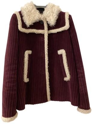 Miu Miu Burgundy Velvet Coat for Women