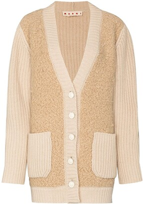Marni Oversized Wool And Cashmere Boucle Cardigan