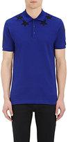 Givenchy Men's Star-Appliquéd Polo Shirt-BLUE