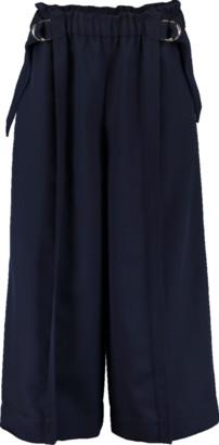 Chloé Wide Leg Cropped Pant