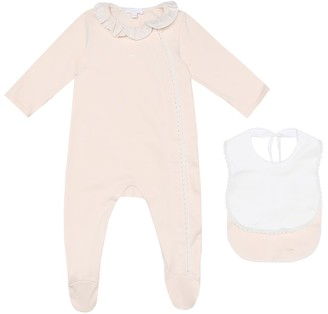 Chloé Kids Baby cotton onesie and bib set