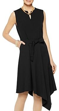 Misook Sleeveless Asymmetric Hem Dress