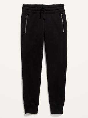 Old Navy Mid-Rise French Terry Zip-Pocket Street Jogger Sweatpants for Girls