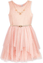 Beautees Lace-Bodice Special-Occasion Dress, Big Girls (7-16)