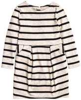 H&M Jersey Dress - Beige melange/striped - Kids
