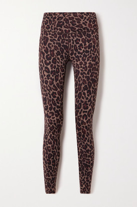 Varley Luna Leopard-print Stretch Leggings - Brown