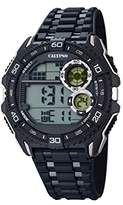 Calypso Men's Digital Watch with LCD Dial Digital Display and Black Plastic Strap K5670/4