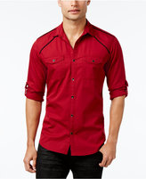 INC International Concepts Men's Hamlet Dobby Long-Sleeve Shirt, Only at Macy's