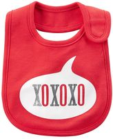 "Carter's Baby Girl XOXO"" Glittery Graphic Bib"