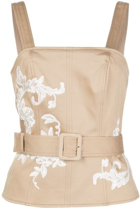 Alexis Tienna embroidered top